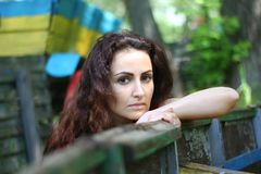 Portrait of a young woman. royalty free stock photos
