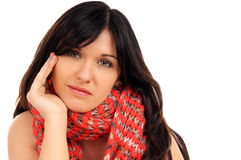 Black haired woman Royalty Free Stock Images