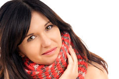 Black haired woman Stock Image