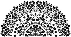 Black half circle decoration Royalty Free Stock Images