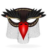 black half-mask of abstract bird Stock Photos