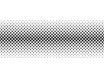 Black halftone bilinear horizontal gradient line of dots in diagonal arrangement on white background. Retro abstract Stock Photos