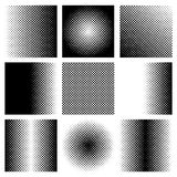 Black halftone collection Royalty Free Stock Images