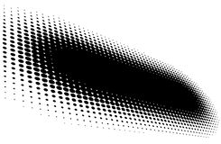 Black halftone stroke Royalty Free Stock Images