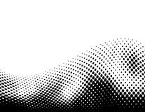 Black halftone wave Stock Photos