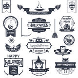 Black Halloween Badges Royalty Free Stock Image