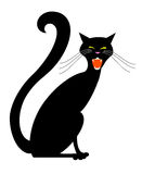 Black Halloween Cat Royalty Free Stock Images