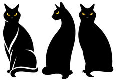 Black halloween cat Royalty Free Stock Photos