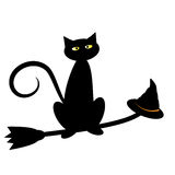 Black Halloween Cat Royalty Free Stock Image