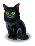 Black Halloween Cat. Vector illustration. Stock Image
