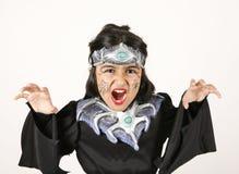 Black Halloween costume royalty free stock photos