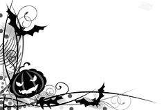 Black halloween frame isolate. Stylish black halloween frame on white background vector illustration