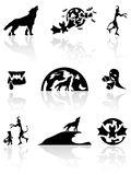 Black Halloween icons Stock Photography