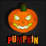 Black Halloween Illustrations With Pumpkin Stock Photo