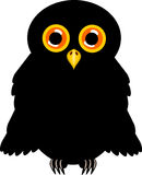 Black halloween owl Stock Images