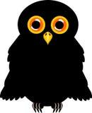 Black Halloween Owl Stock Images
