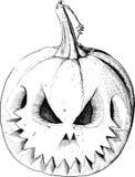 Black Halloween pumpkin Stock Photography