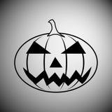 Halloween pumpkin icon. Black halloween pumpkin icon Royalty Free Stock Images