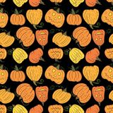 Black Halloween Pumpkin Pattern Royalty Free Stock Photo