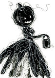 Black halloween symbol Royalty Free Stock Photos