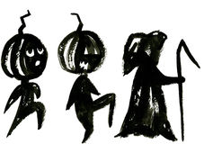 Black halloween symbol Royalty Free Stock Images