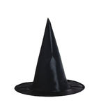 Black halloween witch hat isolated on white Stock Image