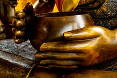 Black hand of buddha statue. royalty free stock image