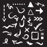 Black curvy direction arrows icons design element set on white background stock illustration