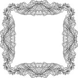 Black hand drawn doodle frame Royalty Free Stock Photos