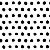 Black hand drawn polka dot seamless pattern vector Royalty Free Stock Image