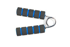 Black hand grip striped blue. Stock Image