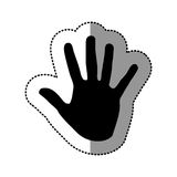 Black hand icon image Royalty Free Stock Photos