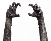 Free Black Hand Of Death, The Walking Dead, Zombie Theme, Halloween Theme, Zombie Hands, White Background, Mummy Hands Stock Image - 49232941