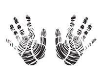 Black hand prints Stock Photo