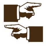 Black hand shapes Royalty Free Stock Image