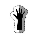 Black hand up icon Stock Images