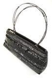 Black handbag. Black elegant handbag isolated on white background stock images