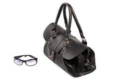 Black handbag. On the white background Stock Images