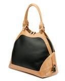 Black handbag isolated on white background. Royalty Free Stock Photo