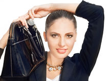 Black handbag Royalty Free Stock Images