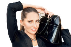 Black handbag Stock Photo