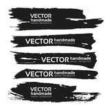 Black handdrawn realistic strokes banners Royalty Free Stock Photography