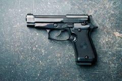 Black handgun Royalty Free Stock Image