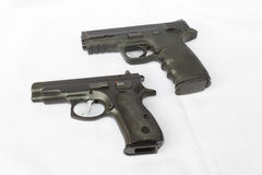 Black Handguns Stock Images