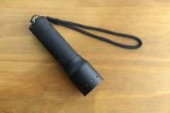 Black handheld torch Stock Photo