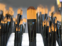 Black handled Paint brush Royalty Free Stock Photo