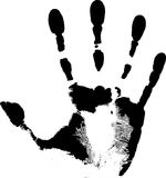 Black handprint Stock Images