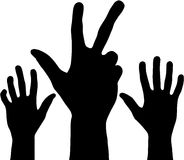 Black hands Royalty Free Stock Image