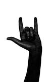 Black hands.  Royalty Free Stock Image