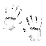 Black hands imprints Stock Photography